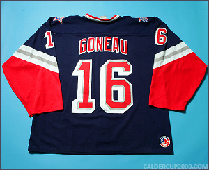 1997-1998 game worn Daniel Goneau Hartford Wolf Pack jersey