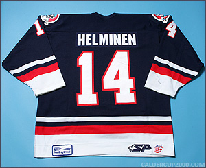 2004-2005 game worn Dwight Helminen Charlotte Checkers jersey