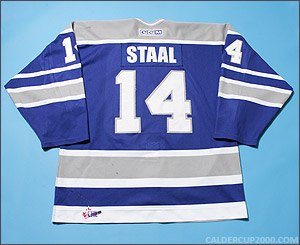 2003-2004 game worn Marc Staal Sudbury Wolves jersey