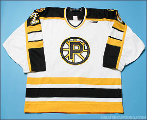 1997-1998 game worn Rob Tallas Providence Bruins jersey