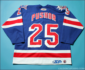 2003-2004 game worn Jamie Pushor Hartford Wolf Pack jersey