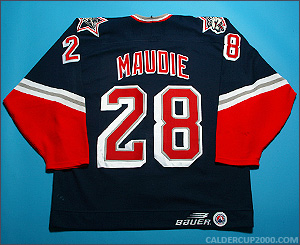 1997-1998 game worn Bob Maudie Hartford Wolf Pack jersey