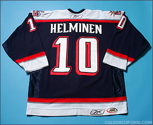 2006-2007 game worn Dwight Helminen Hartford Wolf Pack jersey