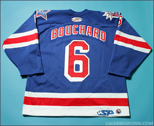 2004-2005 game worn Joel Bouchard Hartford Wolf Pack jersey