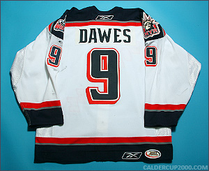 2005-2006 game worn Nigel Dawes Hartford Wolf Pack jersey