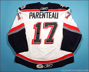 2008-2009 game worn P.A. Parenteau Hartford Wolf Pack jersey