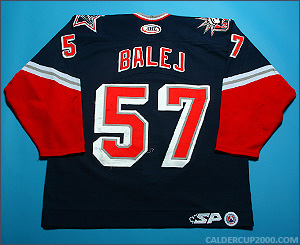 2004-2005 game worn Jozef Balej Hartford Wolf Pack jersey