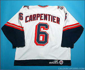 1998-1999 game worn Benjamin Carpentier Hartford Wolf Pack jersey
