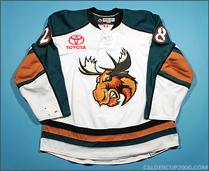 2009-2010 game worn Lawrence Nycholat Manitoba Moose jersey