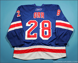 2008-2009 game worn Colton Orr New York Rangers jersey