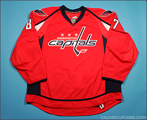 2008-2009 game worn Donald Brashear Washington Capitals jersey