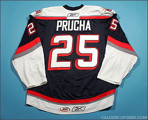 2008-2009 game worn Petr Prucha Hartford Wolf Pack jersey