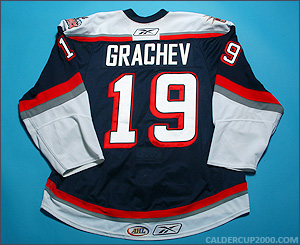 2009-2010 game worn Evgeny Grachev Hartford Wolf Pack jersey