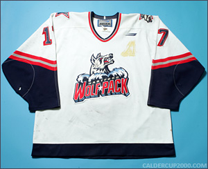 1998-1999 game worn Derek Armstrong Hartford Wolf Pack jersey
