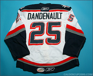 2009-2010 game worn Mathieu Dandenault Hartford Wolf Pack jersey