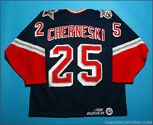 1998-1999 game worn Stefan Cherneski Hartford Wolf Pack jersey