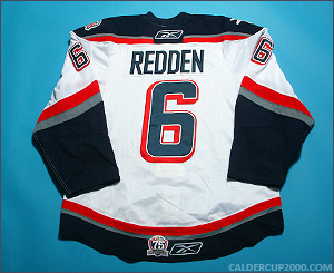 2010-2011 game worn Wade Redden Hartford Wolf Pack jersey