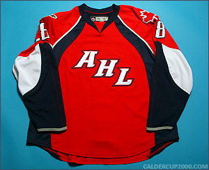 2008 game worn Lawrence Nycholat Canada AHL All Stars jersey