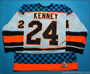1997-1998 game worn Jay Kenney Charlotte Checkers jersey