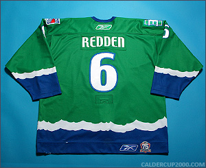 2010-2011 game worn Wade Redden Connecticut Whale jersey