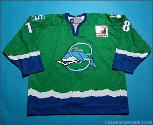 2010-2011 game worn Jeremy Williams Connecticut Whale jersey