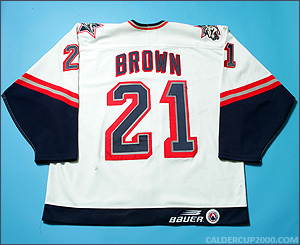 1998-1999 game worn Kevin Brown Hartford Wolf Pack jersey