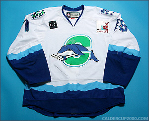 2010-2011 game worn John Mitchell Connecticut Whale jersey