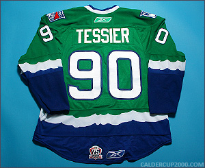 2010-2011 game worn Kelsey Tessier Connecticut Whale jersey