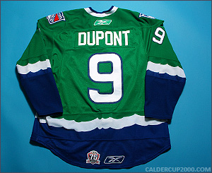 2010-2011 game worn Brodie Dupont Connecticut Whale jersey