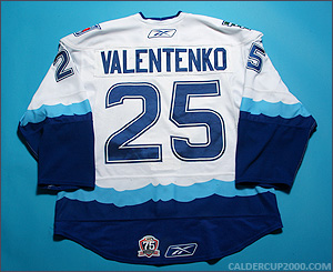 2010-2011 game worn Pavel Valentenko Connecticut Whale jersey