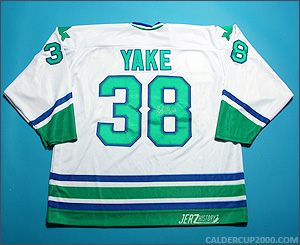 2011 game worn Terry Yake Hartford Whalers jersey