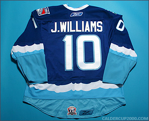 2010-2011 game worn Jason Williams Connecticut Whale jersey
