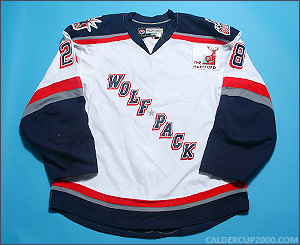 2009-2010 game worn Derek Couture Hartford Wolf Pack jersey