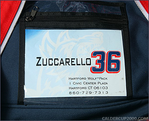 2010-2011 game worn Mats Zuccarello Hartford Wolf Pack jersey