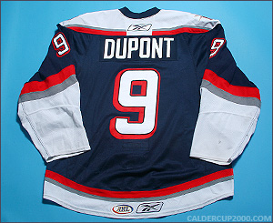 2009-2010 game worn Brodie Dupont Hartford Wolf Pack jersey