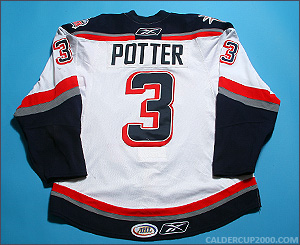 2009-2010 game worn Corey Potter Hartford Wolf Pack jersey