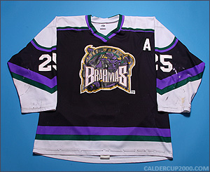1998-1999 game worn Murray Hogg Forth Worth Brahmas jersey