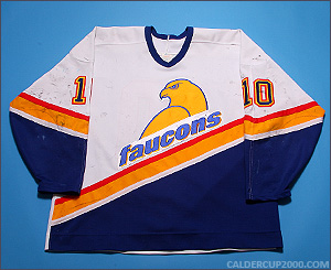 1996-1997 game worn Unknown Sherbrooke Faucons jersey