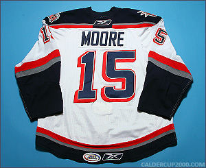 2008-2009 game worn Greg Moore Hartford Wolf Pack jersey
