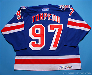 2006-2007 game worn Torpedo Hartford Wolf Pack jersey