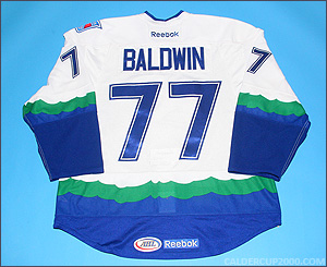 2011-2012 game worn Lee Baldwin Connecticut Whale jersey