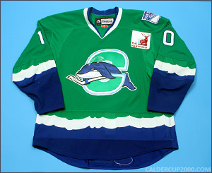 2011-2012 game worn Tommy Grant Connecticut Whale jersey