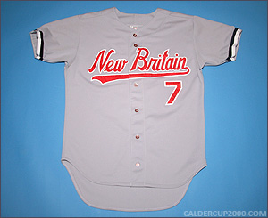 1996 game worn Jeff Ferguson New Britain Rock Cats jersey