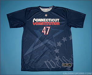 2012 game worn Lucas Murphy Connecticut Constitution jersey