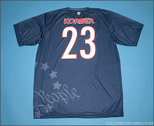 2012 game worn John Korber Connecticut Constitution jersey