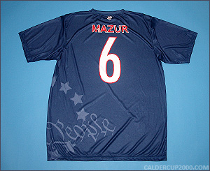 2012 game worn Chris Mazur Connecticut Constitution jersey