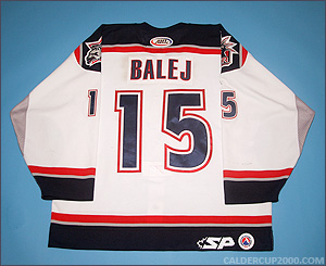2003-2004 game worn Jozef Balej Hartford Wolf Pack jersey
