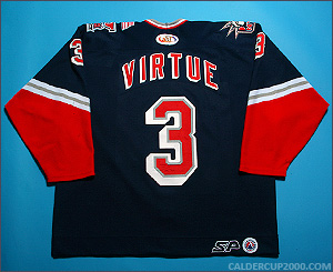2001-2002 game worn Terry Virtue Hartford Wolf Pack jersey