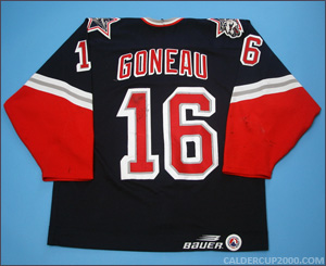 1998-1999 game worn Daniel Goneau Hartford Wolf Pack jersey