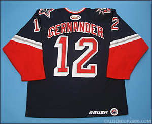 1999-2000 game worn Ken Gernander Hartford Wolf Pack jersey